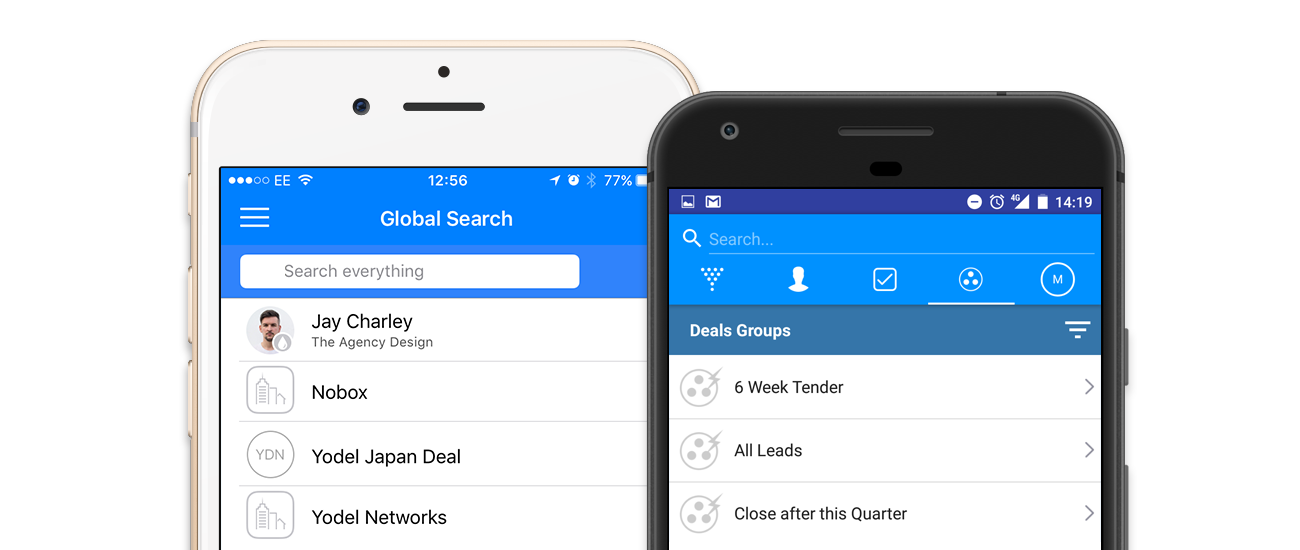 SalesSeek mobile app global search