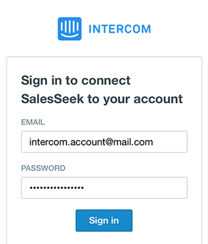 How to connect Intercom with SalesSeek