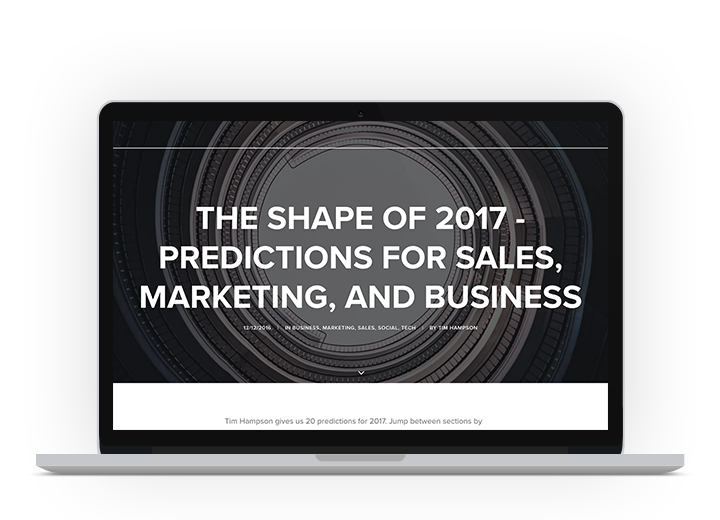 Predictions for 2017 Sales and Marketing